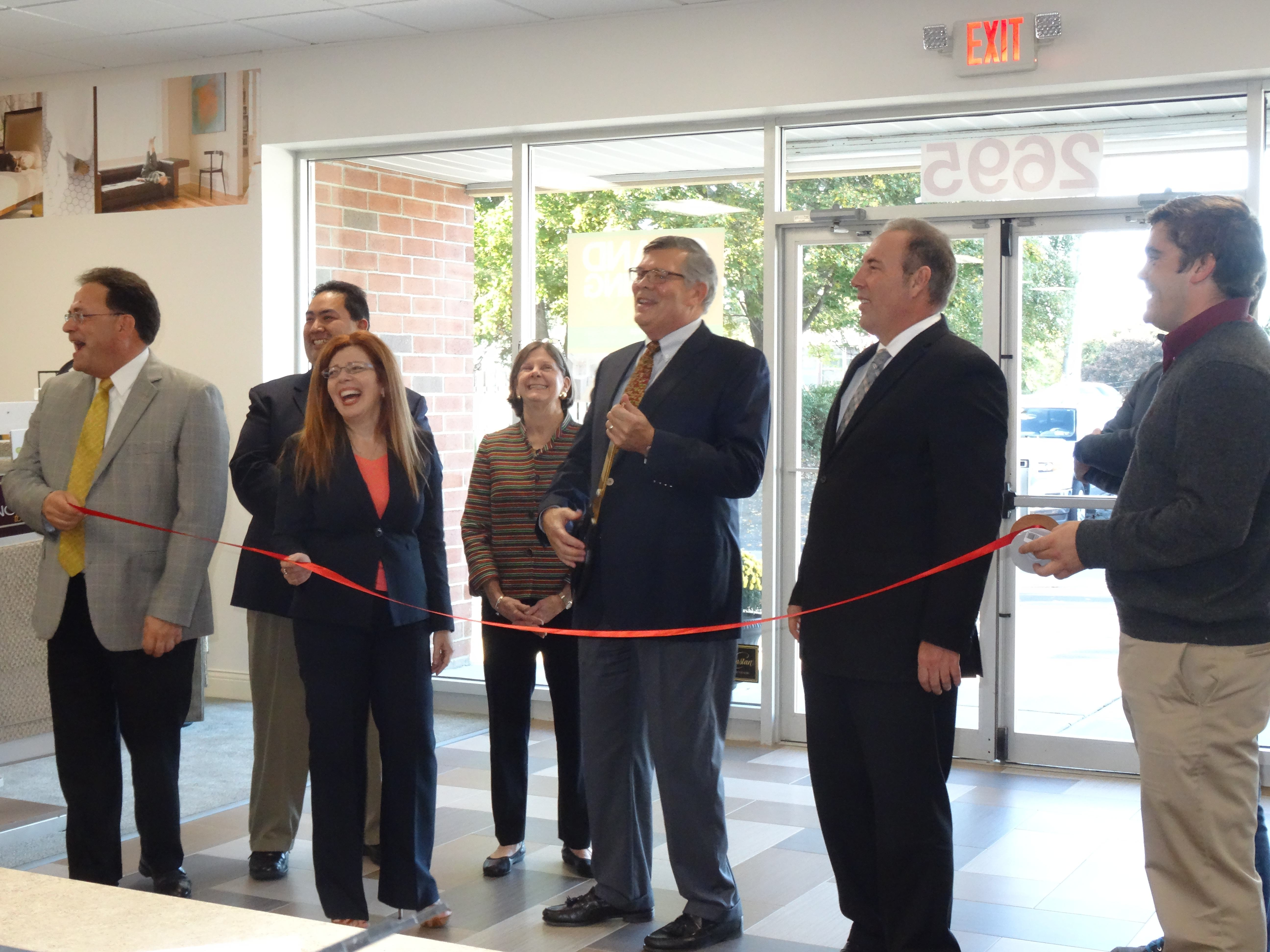Messner flooring ribbon cutting in Greece, NY